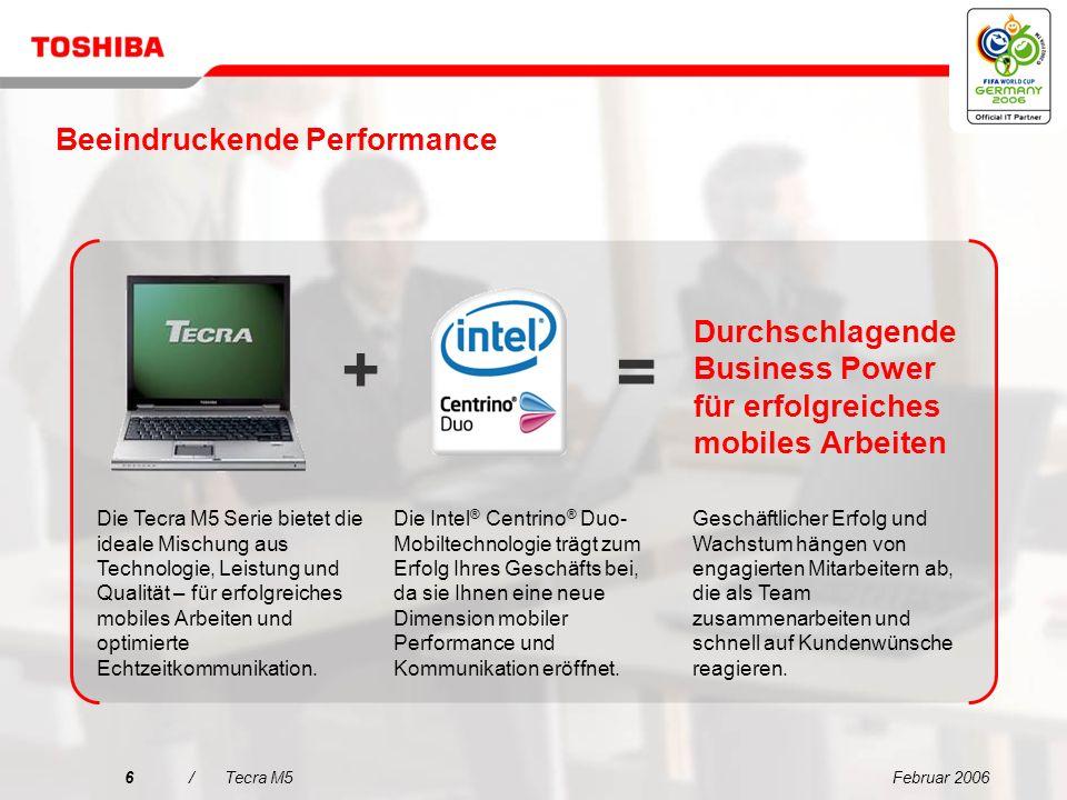 Februar 20066/Tecra M5 Durchschlagende Business Power für erfolgreiches mobiles Arbeiten + Geschäftlicher Erfolg und Wachstum hängen von engagierten Mitarbeitern ab, die als Team zusammenarbeiten und schnell auf Kundenwünsche reagieren.