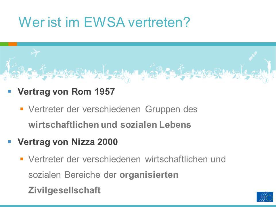 Wer ist im EWSA vertreten.
