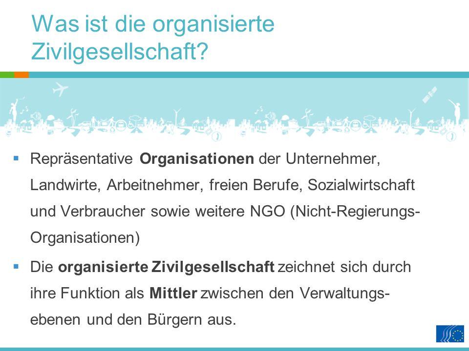Was ist die organisierte Zivilgesellschaft.