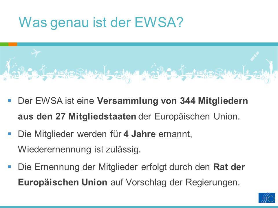 Was genau ist der EWSA.
