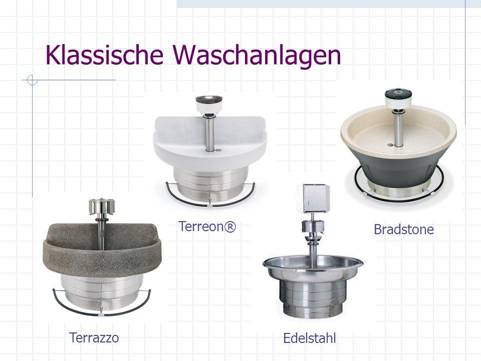 Klassische Waschanlagen Terrazzo Edelstahl Terreon® Bradstone