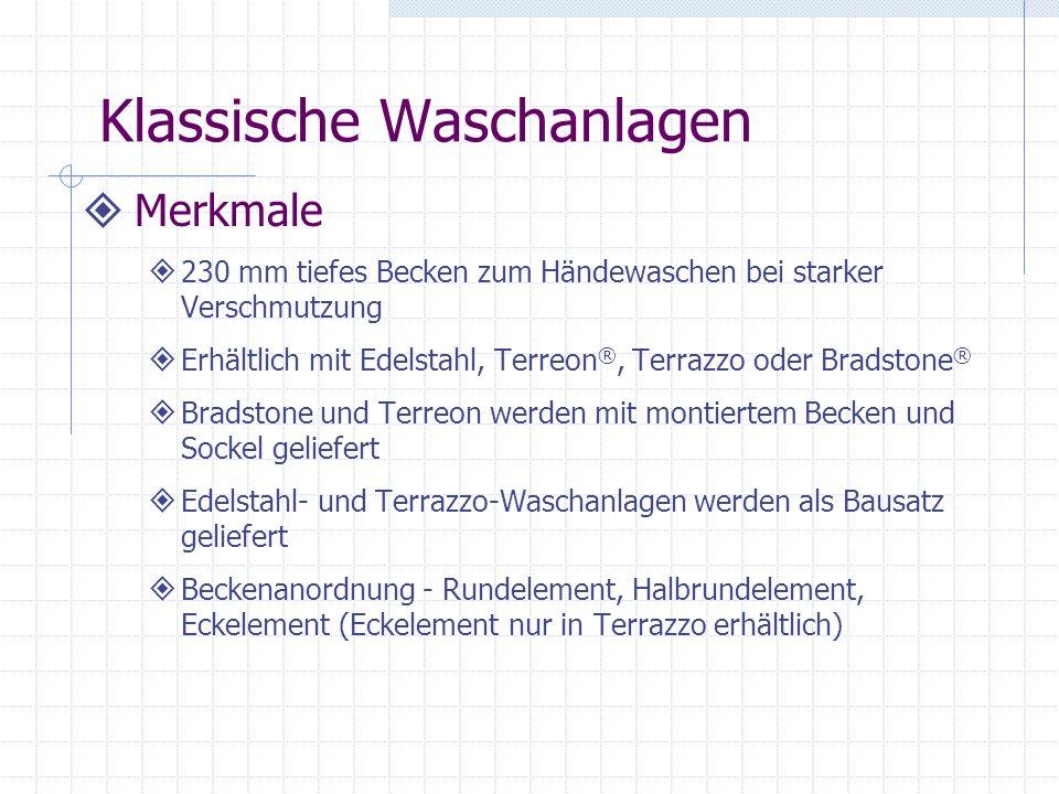 Multi-Founts Aktivierung Druckknopf mit Luftdurchflussregelung Terreon und Terrazzo Infrarotgesteuertes Magnetventil Terreon und Terrazzo Infrarot mit Batterie Nur Terreon-Modelle Elektronische Berührungssteuerung mit Timer Nur Terreon-Modelle