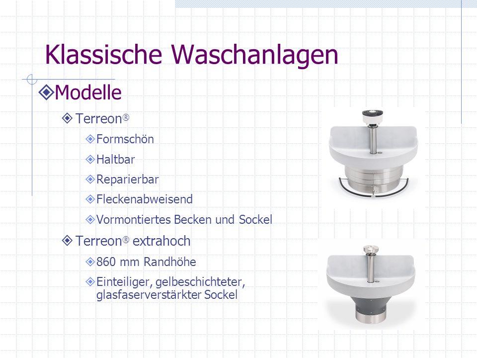 Klassische Waschanlagen Aktivierungsmöglichkeiten Mechanisch selbstschließend (Fußschiene) Elektronisch aktiviertes Magnetventil (infrarot) Luftdurchflussventil (mechanischer Druckknopf) Berührung mit Timer (elektronischer Druckknopf)