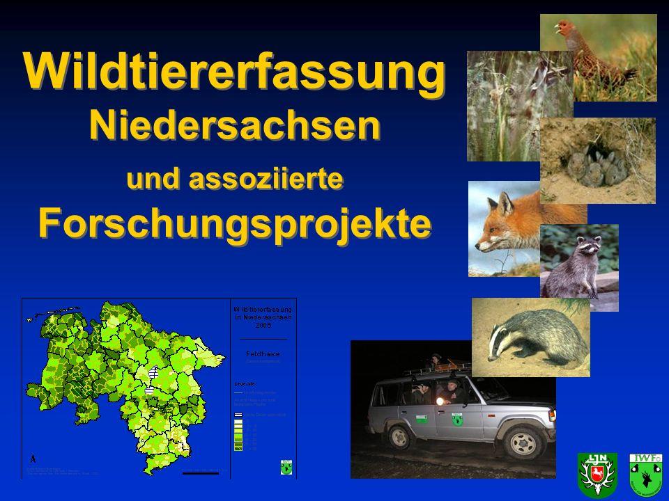 Wildtiererfassung Niedersachsen und assoziierte Forschungsprojekte