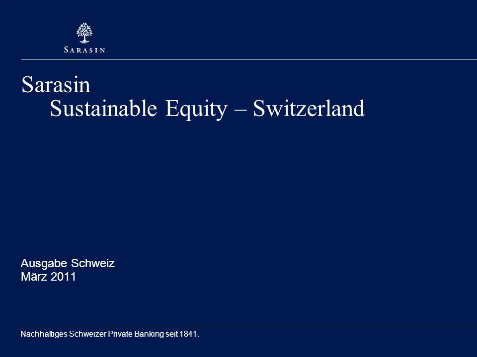 Nachhaltiges Schweizer Private Banking seit 1841.