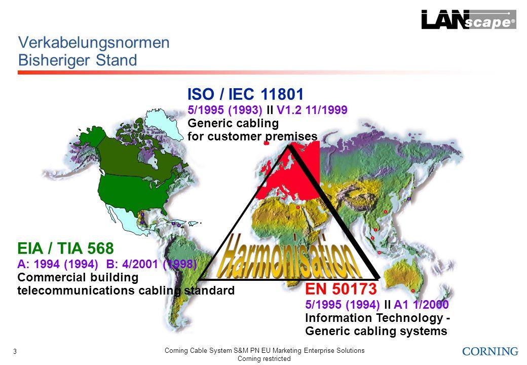 Corning Cable System S&M PN EU Marketing Enterprise Solutions Corning restricted 14 Neue NEXT-Werte Anm.: Dämpfungen kleiner 4 dB treten typisch auf bei kurzen Strecken und / oder niedriger Frequenz