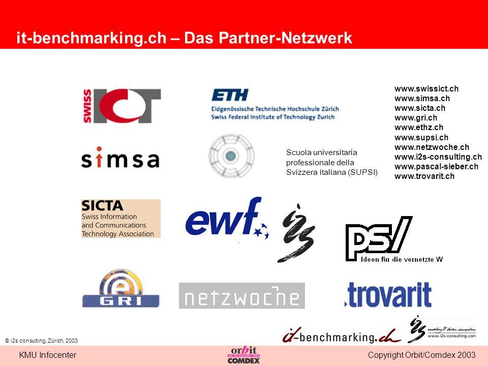 Copyright Orbit/Comdex 2003KMU Infocenter © i2s consulting, Zürich, 2003 Scuola universitaria professionale della Svizzera italiana (SUPSI) www.swissi