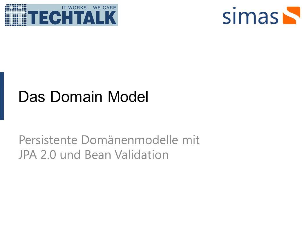 History Das Domain Model ist klassischerweise ein Artefakt aus der Analyse und nicht ein Artefakt aus der Programmierung.