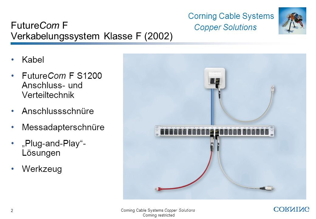 Corning Cable Systems Copper Solutions Corning restricted Corning Cable Systems Copper Solutions 3 NEXT in dB nach Norm NEXT in dB (typ.