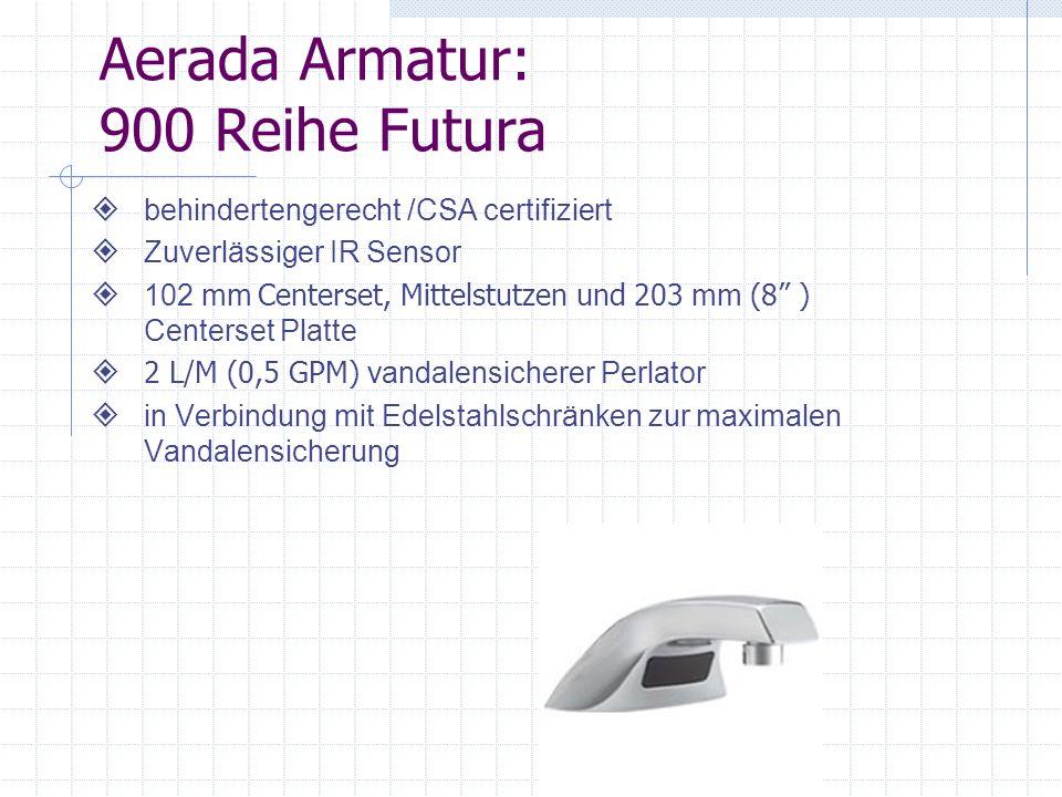 Aerada Armaturen: 90-80 Reihe Armhebel behindertengerecht CSA/US certifiziert 102mm angegossene Tülle 2 L/M (0,5 GPM) vandalensicherer Perlator Schwere Gussausführung 102 mm Centerset Montage