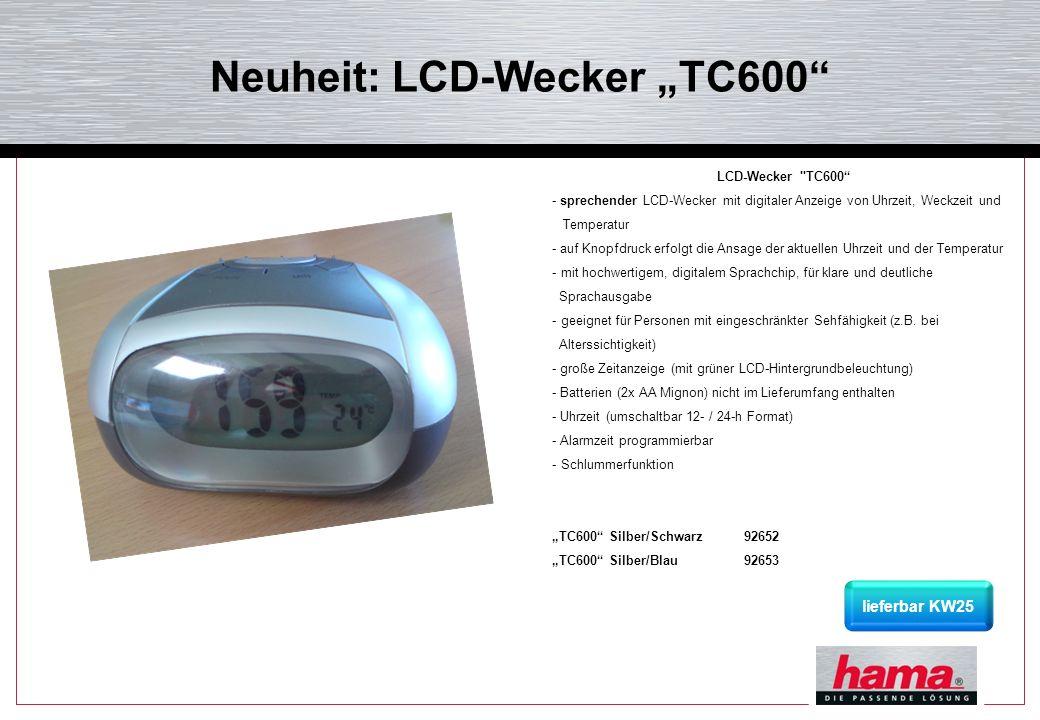 Neuheit: LCD-Wecker TC600 LCD-Wecker