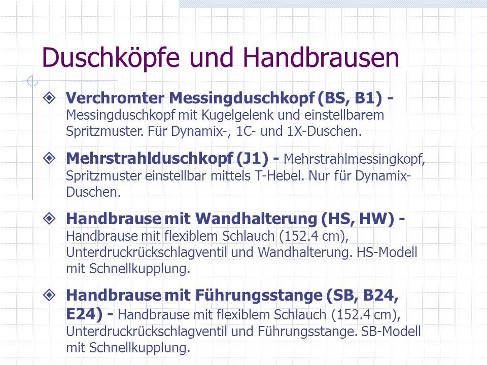 Duschköpfe und Handbrausen Verchromter Messingduschkopf (BS, B1) - Messingduschkopf mit Kugelgelenk und einstellbarem Spritzmuster. Für Dynamix-, 1C-