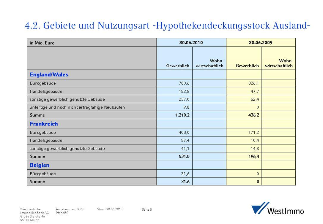 Angaben nach § 28 PfandBG Stand 30.06.2010Westdeutsche ImmobilienBank AG Große Bleiche 46 55116 Mainz Seite 9 4.2.