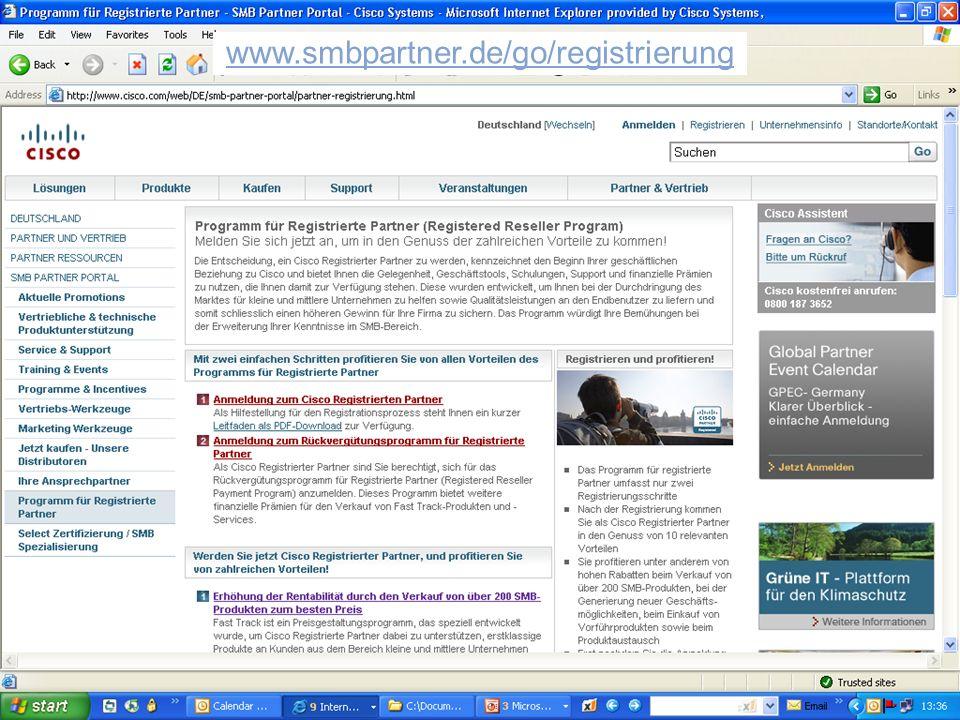 © 2007 Cisco Systems, Inc. Alle Rechte vorbehalten.Vertrauliche Informationen von CiscoPräsentation_ID 4 www.smbpartner.de/go/registrierung