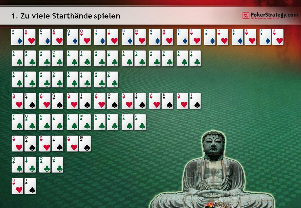1. Zu viele Starthände spielen
