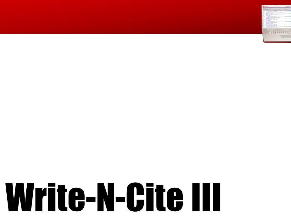 Write-N-Cite III