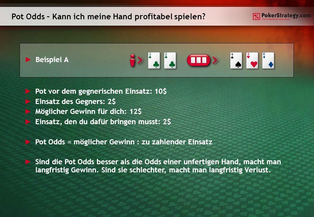 Pot Odds – Kann ich meine Hand profitabel spielen.