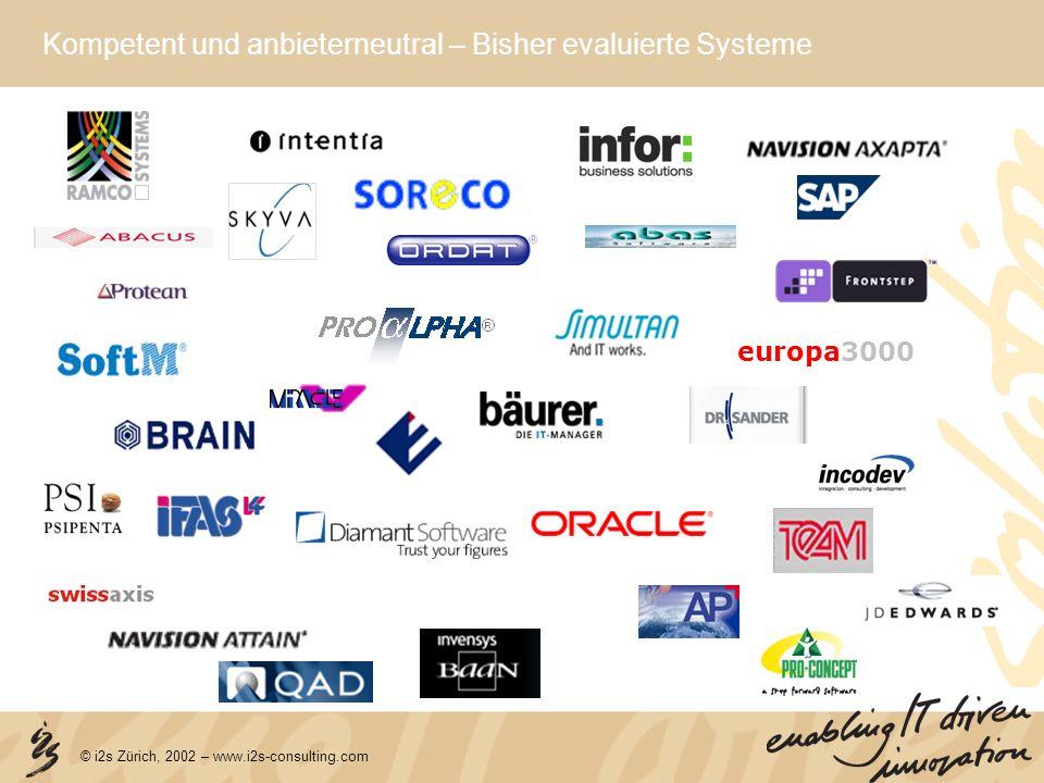 © i2s Zürich, 2002 – www.i2s-consulting.com Wir bringen Ihre Mannschaft ins Ziel.