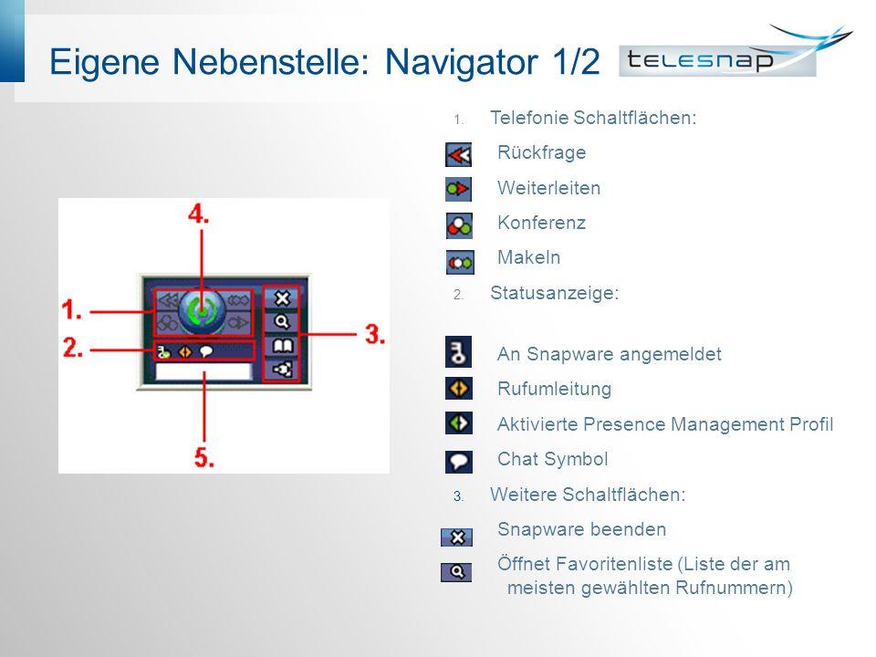 Eigene Nebenstelle: Navigator 1/2 1.