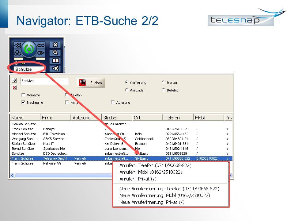 Navigator: ETB-Suche 2/2