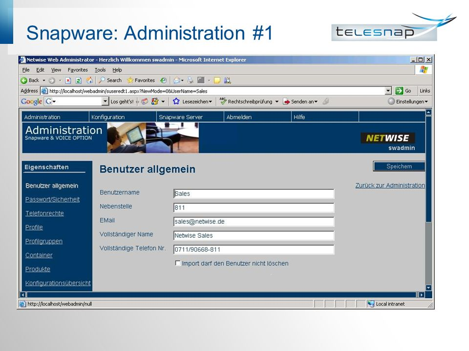 Snapware: Administration #1