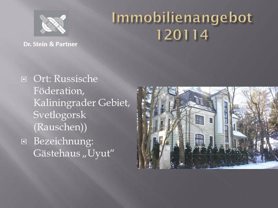 Ort: Russische Föderation, Kaliningrader Gebiet, Svetlogorsk (Rauschen)) Bezeichnung: Gästehaus Uyut Dr. Stein & Partner