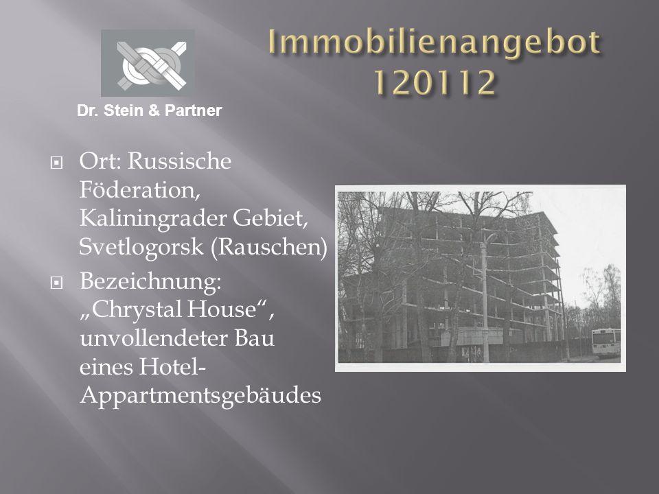 Fläche : ca.11.500 qm Preis: ca. 5.5 Mio. Euro Das Objekt ist im Eigentum einer russischen Bank.