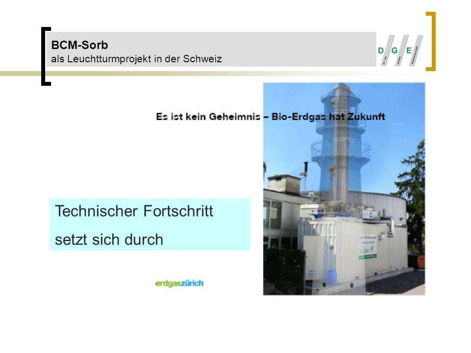 BCM-Sorb als Leuchtturmprojekt in der Schweiz Technischer Fortschritt setzt sich durch
