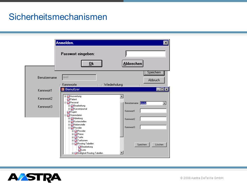 © 2008 Aastra DeTeWe GmbH. Sicherheitsmechanismen