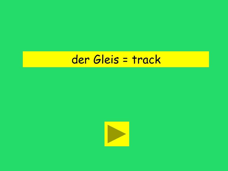 Hmm, Gleis 6, Zone B. line 6 track 6building 6