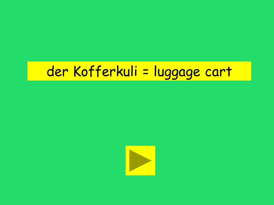 Brauchen wir einen Kofferkuli? baggage man luggage cartnew suitcase