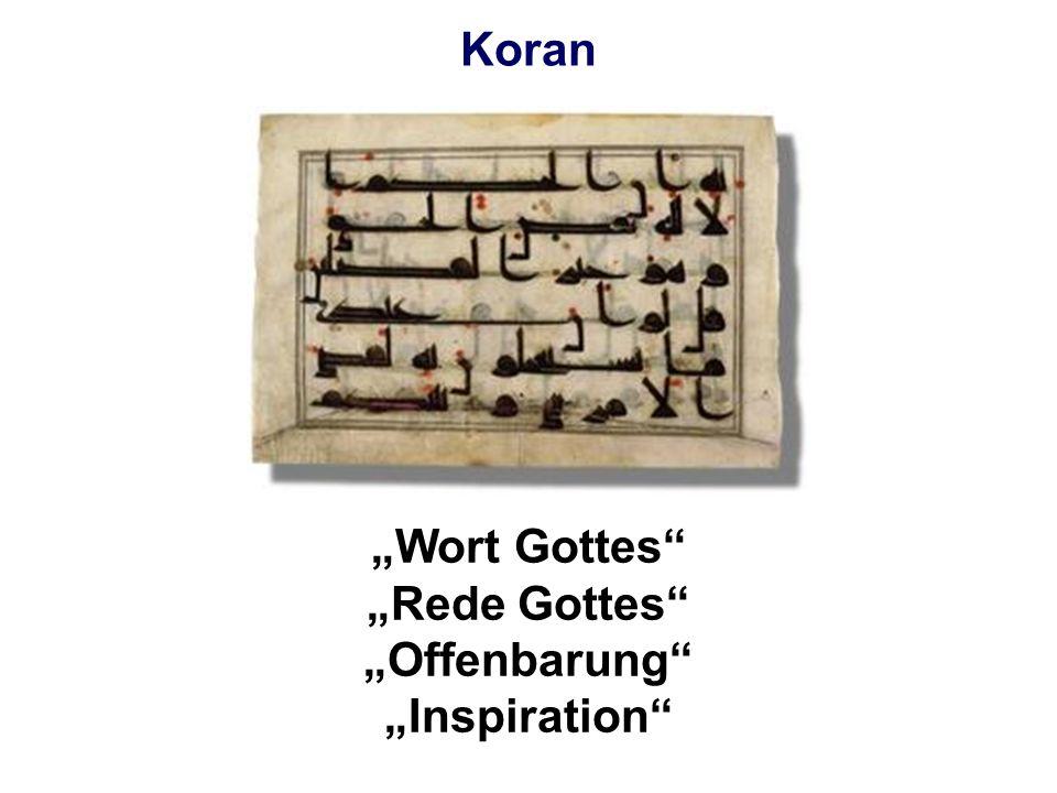 Koran Wort Gottes Rede Gottes Offenbarung Inspiration