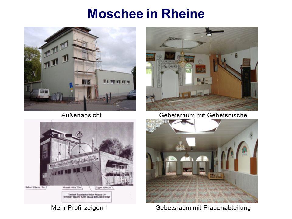Moschee in Rheine AußenansichtGebetsraum mit Gebetsnische Gebetsraum mit FrauenabteilungMehr Profil zeigen !
