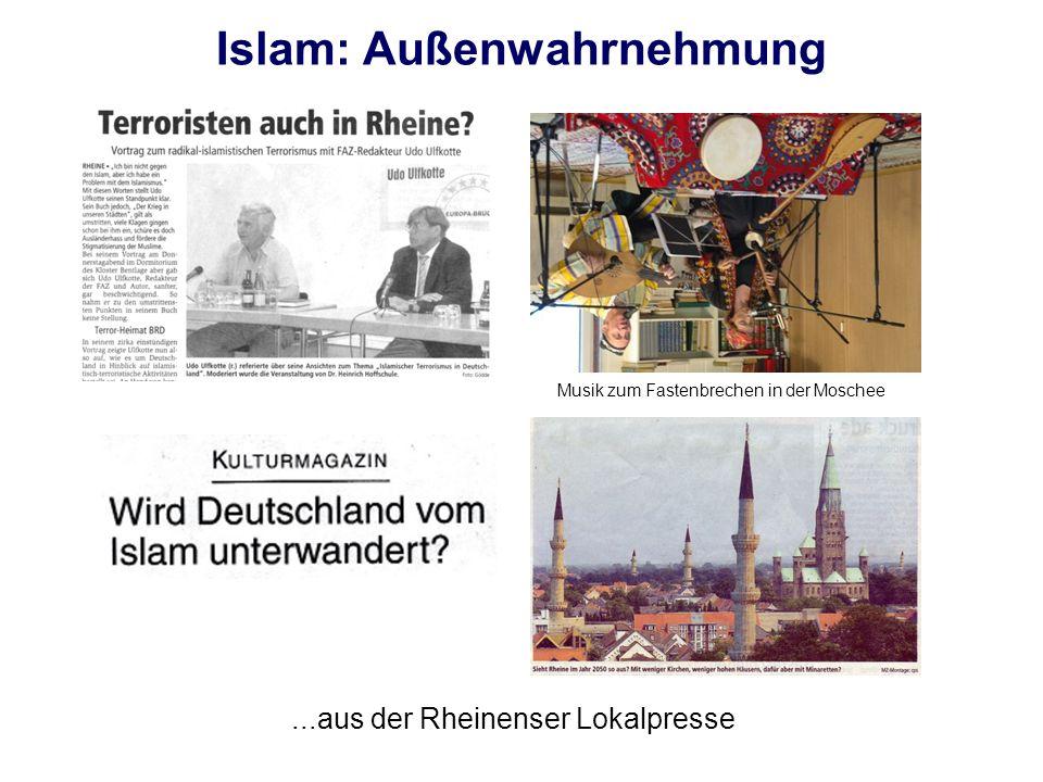 Islam: Außenwahrnehmung...aus der Rheinenser Lokalpresse Musik zum Fastenbrechen in der Moschee