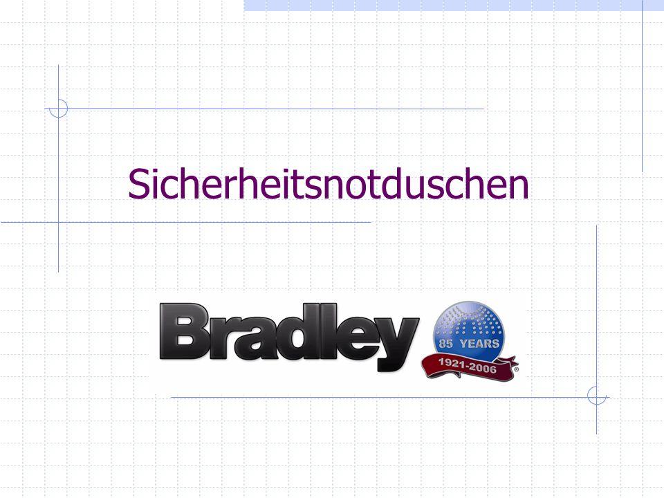 Bradley Sicherheitsnotduschen Notfallinstallationen sind eine Notwendigkeit und lassen sich profitabel verkaufen.