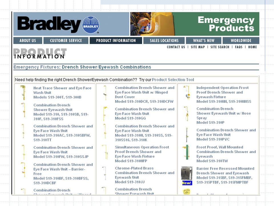Bradley Sicherheitsnotduschen Notfallinstallationen sind eine Notwendigkeit und lassen sich profitabel verkaufen! Notfallinstallationen werden in vers