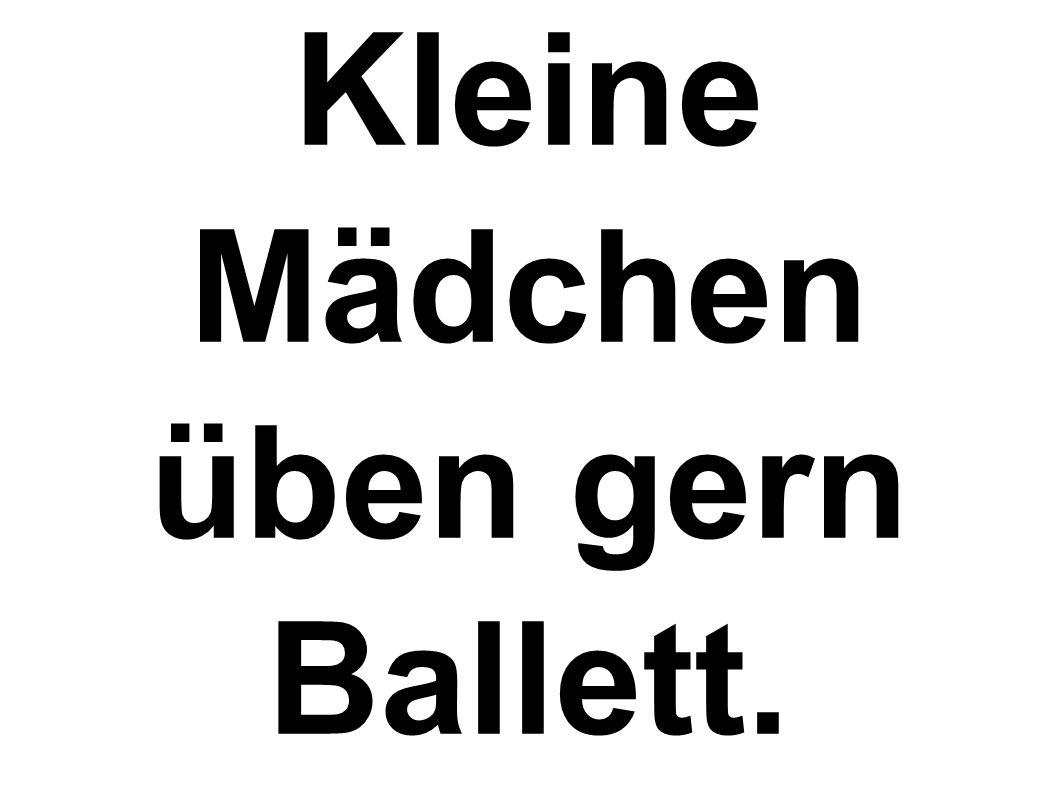 Kleine Mädchen üben gern Ballett.