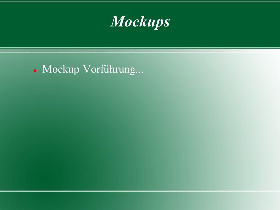 Mockups Mockup Vorführung...