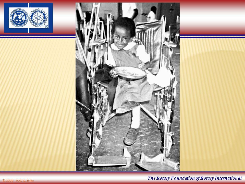 The Rotary Foundation of Rotary International 4 endemische Länder, niedrigster Stand in der Geschichte © 2009 PDG G.