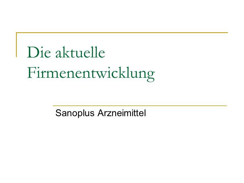 Die aktuelle Firmenentwicklung Sanoplus Arzneimittel