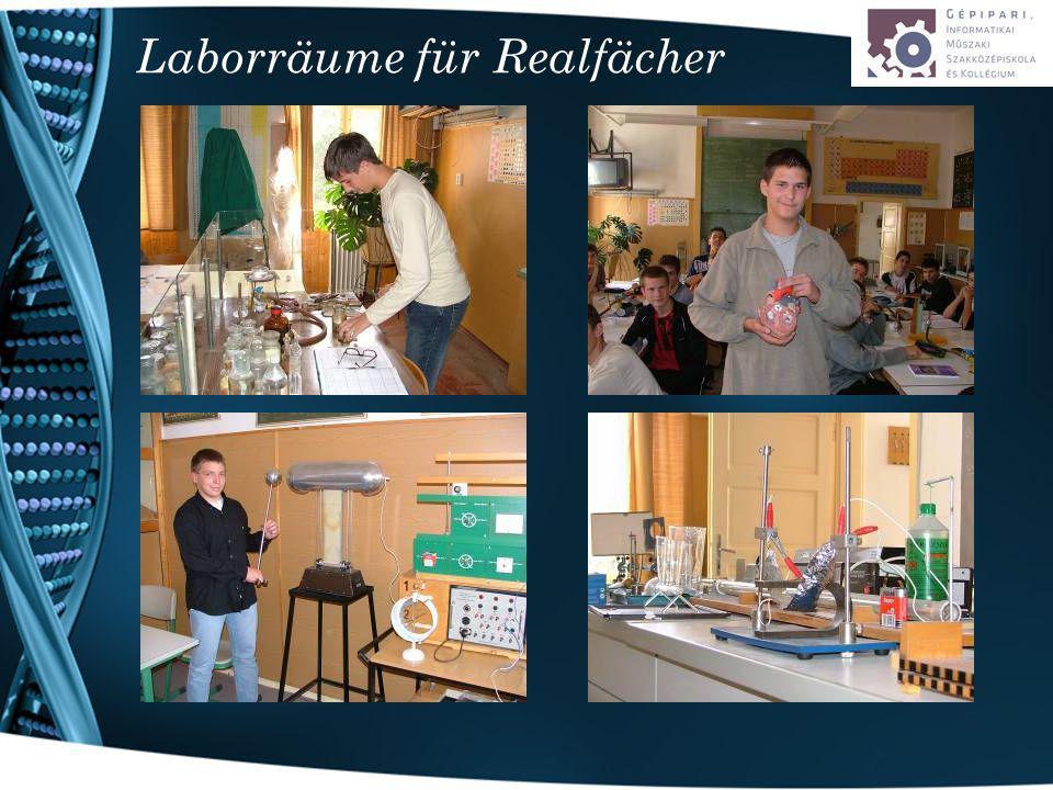 Laborräume für Realfächer
