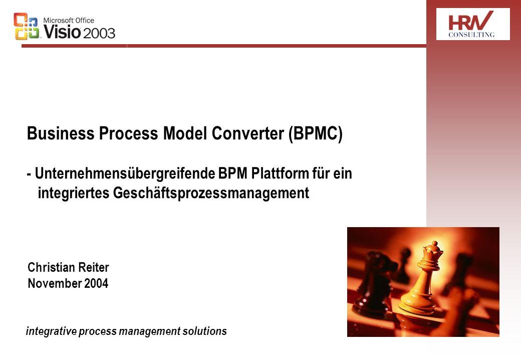 Business Process Model Converter (BPMC) - Unternehmensübergreifende BPM Plattform für ein integriertes Geschäftsprozessmanagement integrative process