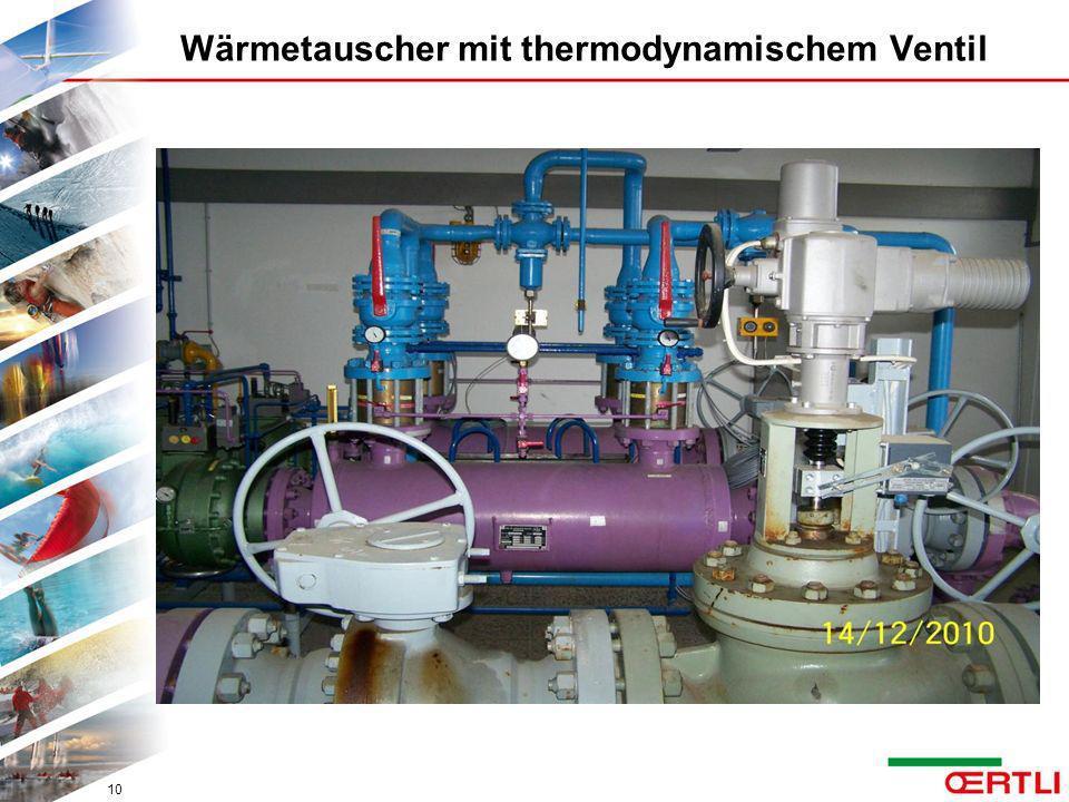 Wärmetauscher mit thermodynamischem Ventil 10