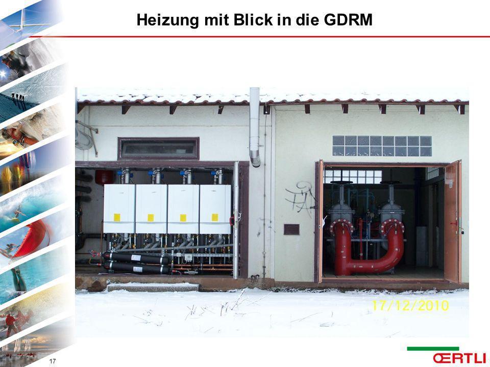 Heizung mit Blick in die GDRM 17
