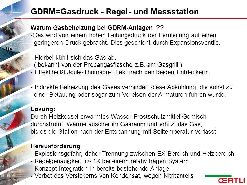 Warum Gasbeheizung bei GDRM-Anlagen ?? -Gas wird von einem hohen Leitungsdruck der Fernleitung auf einen geringeren Druck gebracht. Dies geschieht dur