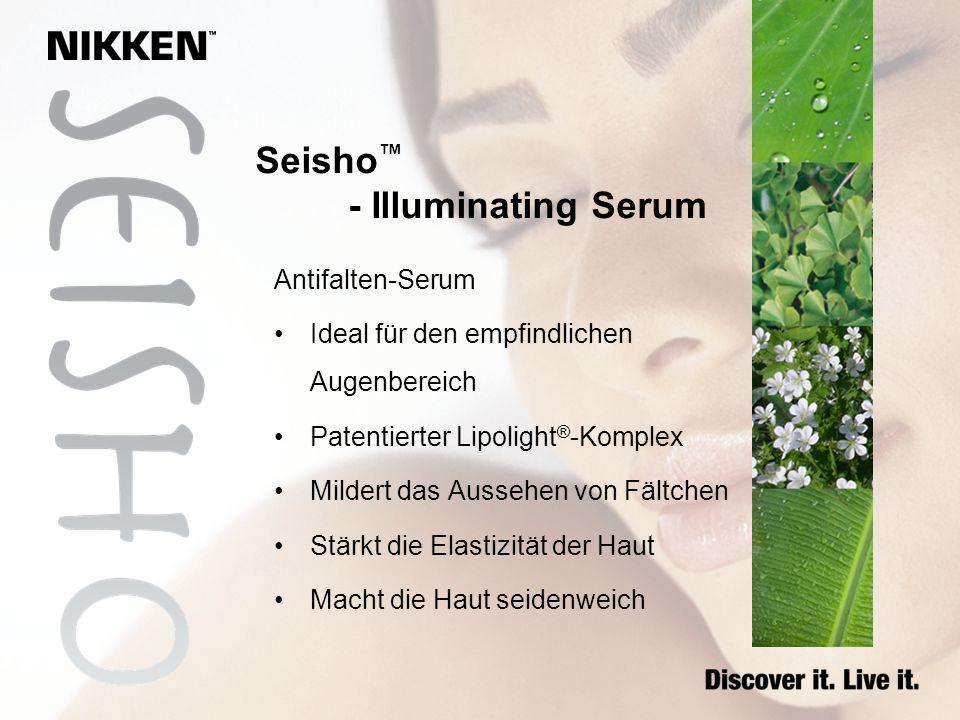 Antifalten-Serum Ideal für den empfindlichen Augenbereich Patentierter Lipolight ® -Komplex Mildert das Aussehen von Fältchen Stärkt die Elastizität d