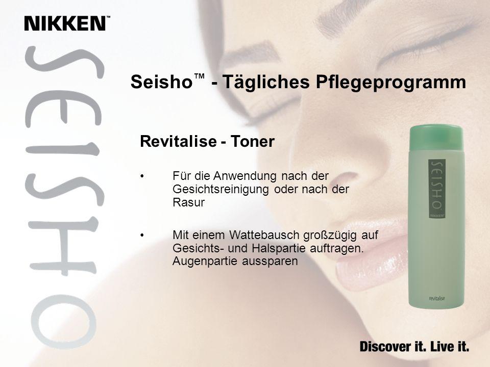 Revitalise - Toner Für die Anwendung nach der Gesichtsreinigung oder nach der Rasur Mit einem Wattebausch großzügig auf Gesichts- und Halspartie auftr