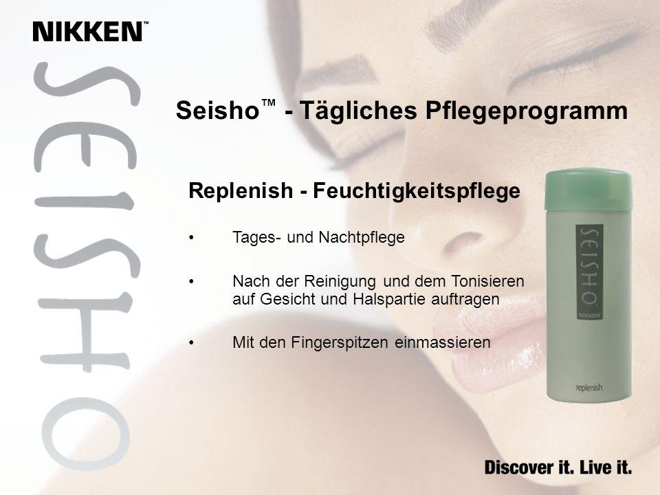 Seisho - Tägliches Pflegeprogramm Replenish - Feuchtigkeitspflege Tages- und Nachtpflege Nach der Reinigung und dem Tonisieren auf Gesicht und Halspar