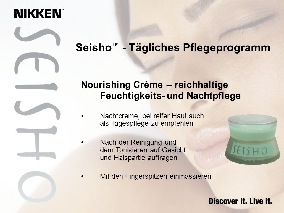 Seisho - Tägliches Pflegeprogramm Nourishing Crème – reichhaltige Feuchtigkeits- und Nachtpflege Nachtcreme, bei reifer Haut auch als Tagespflege zu e