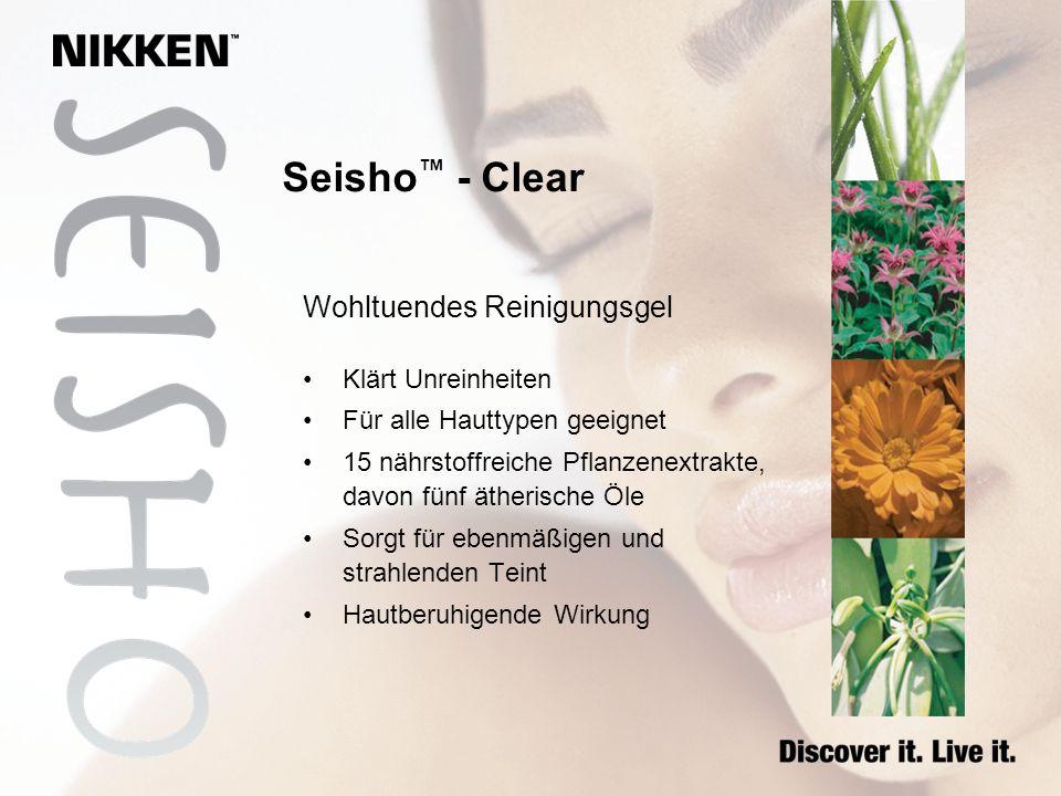 Wohltuendes Reinigungsgel Klärt Unreinheiten Für alle Hauttypen geeignet 15 nährstoffreiche Pflanzenextrakte, davon fünf ätherische Öle Sorgt für eben